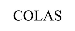 mark for COLAS, trademark #85692632