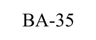 mark for BA-35, trademark #85692811