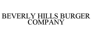 mark for BEVERLY HILLS BURGER COMPANY, trademark #85694034