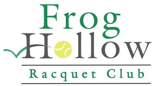 mark for FROG HOLLOW RACQUET CLUB, trademark #85694423