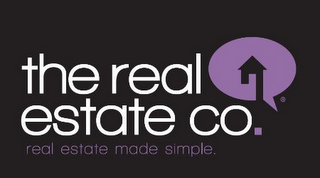 mark for THE REAL ESTATE CO. REAL ESTATE MADE SIMPLE., trademark #85694554