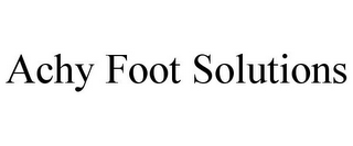 mark for ACHY FOOT SOLUTIONS, trademark #85696087