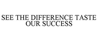 mark for SEE THE DIFFERENCE TASTE OUR SUCCESS, trademark #85696440