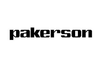 mark for PAKERSON, trademark #85696446