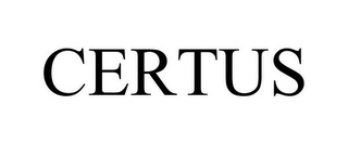 mark for CERTUS, trademark #85697085
