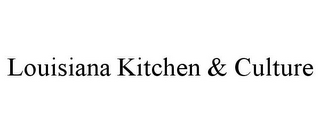 mark for LOUISIANA KITCHEN & CULTURE, trademark #85697150