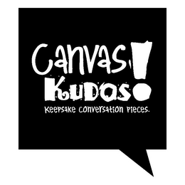 mark for CANVAS KUDOS! KEEPSAKE CONVERSATION PIECES., trademark #85697644
