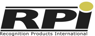 mark for RPI RECOGNITION PRODUCTS INTERNATIONAL, trademark #85699698