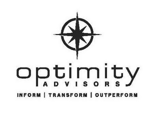 mark for OPTIMITY ADVISORS INFORM | TRANSFORM | OUTPERFORM, trademark #85699924