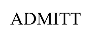 mark for ADMITT, trademark #85701338