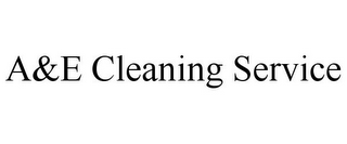 mark for A&E CLEANING SERVICE, trademark #85701362