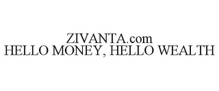mark for ZIVANTA.COM HELLO MONEY, HELLO WEALTH, trademark #85701371