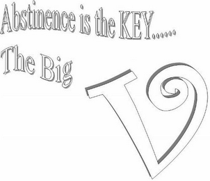 mark for ABSTINENCE IS THE KEY......THE BIG V, trademark #85701489