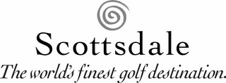 mark for SCOTTSDALE THE WORLD'S FINEST GOLF DESTINATION., trademark #85702088