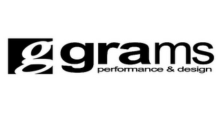 mark for G GRAMS PERFORMANCE & DESIGN, trademark #85702629