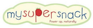 mark for MY SUPER SNACK, POWER UP NATURALLY, trademark #85702641
