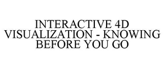 mark for INTERACTIVE 4D VISUALIZATION - KNOWING BEFORE YOU GO, trademark #85703004
