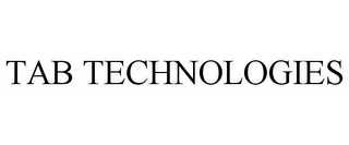 mark for TAB TECHNOLOGIES, trademark #85703106
