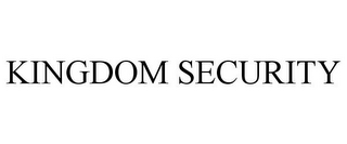 mark for KINGDOM SECURITY, trademark #85704340