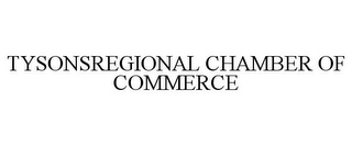 mark for TYSONSREGIONAL CHAMBER OF COMMERCE, trademark #85704433