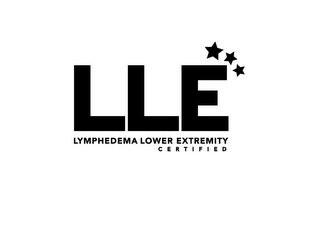 mark for LLE LYMPHEDEMA LOWER EXTREMITY C E R T I F I E D, trademark #85705355