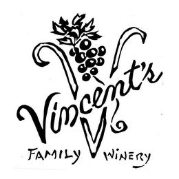 mark for VINCENT'S V FAMILY WINERY, trademark #85705539