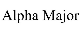 mark for ALPHA MAJOR, trademark #85705768