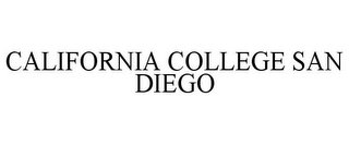mark for CALIFORNIA COLLEGE SAN DIEGO, trademark #85706096