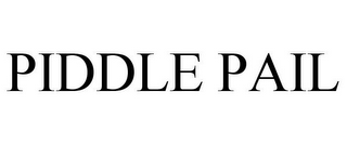 mark for PIDDLE PAIL, trademark #85706764