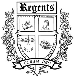 mark for REGENTS VERITAS REVERENTIA FIDUCIA MINISTERIUM CORAM DEO, trademark #85706822