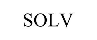mark for SOLV, trademark #85706918