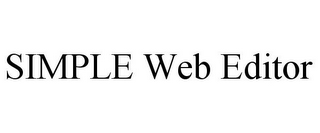 mark for SIMPLE WEB EDITOR, trademark #85706994
