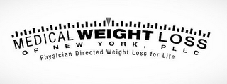 mark for MEDICAL WEIGHT LOSS OF NEW YORK, PLLC PHYSICIAN DIRECTED WEIGHT LOSS FOR LIFE, trademark #85707195