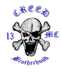 mark for CREED BROTHERHOOD, 13, MC, trademark #85707328