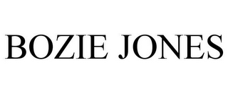 mark for BOZIE JONES, trademark #85708044