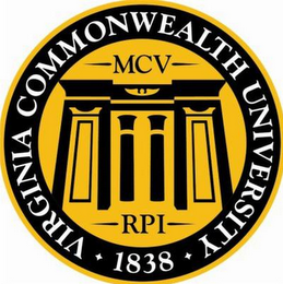 mark for VIRGINIA COMMONWEALTH UNIVERSITY 1838 MCV RPI, trademark #85708113