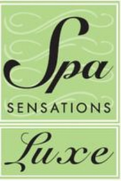 mark for SPA SENSATIONS LUXE, trademark #85708331