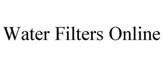 mark for WATER FILTERS ONLINE, trademark #85709542