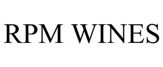 mark for RPM WINES, trademark #85710162