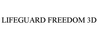 mark for LIFEGUARD FREEDOM 3D, trademark #85710931