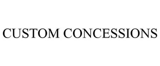 mark for CUSTOM CONCESSIONS, trademark #85710997