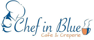 mark for CHEF IN BLUE CAFE & CREPERIE, trademark #85711407