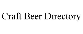 mark for CRAFT BEER DIRECTORY, trademark #85711588