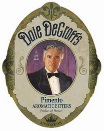 mark for DALE DEGROFF'S PIMENTO AROMATIC BITTERS PRODUCT OF FRANCE KINGCOCKTAIL, trademark #85712335