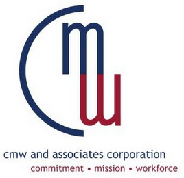 mark for CMW CMW AND ASSOCIATES CORPORATION COMMITMENT · MISSION · WORKFORCE, trademark #85712414