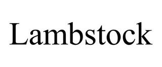 mark for LAMBSTOCK, trademark #85712945