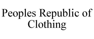 mark for PEOPLES REPUBLIC OF CLOTHING, trademark #85714991