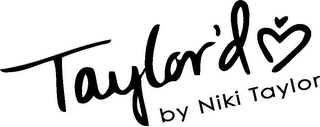 mark for TAYLOR'D BY NIKI TAYLOR, trademark #85715100