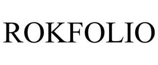 mark for ROKFOLIO, trademark #85715746