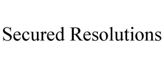 mark for SECURED RESOLUTIONS, trademark #85715797